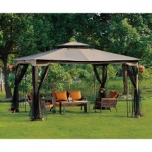 10 x 12 Patio Gazebo with Mosquito Netting - Outdoor Furniture