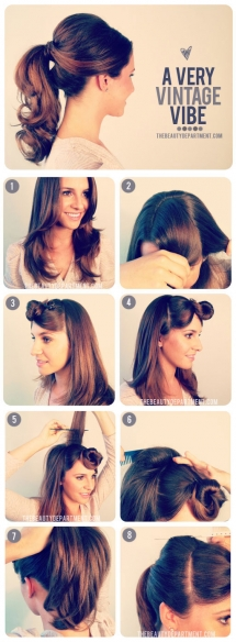 1950's Inspired Ponytail - Fave hairstyles