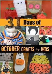 31 Days of October Crafts for Kids - Fun crafts