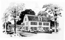 3 Story Colonial House Plan - Country Farmhouse