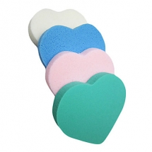 (4PCS) Heart-shaped Makeup Powder Puff - Makeup Accessories