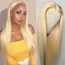 613 Blonde Lace Front Wigs 13*4 Lace Wigs Straight Brazilian Human Hair-AshimaryHair.com - Christmas fun