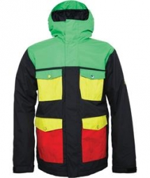 686 Snaggletooth Blvd Insulated Snowboard Jacket Rasta Colorblock - Winter Sports