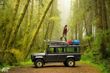 A good 'ol Defender 110 makes for an awsome adventure mobile - Surfing Safari