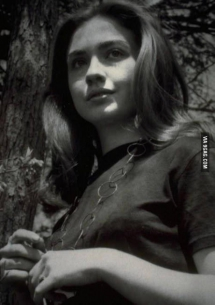 A younger Hillary Clinton (Rodham) - In the news