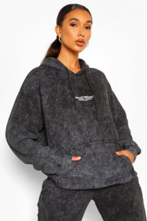 Acid Wash Official Product Oversized Hoodie - Comfy Clothes