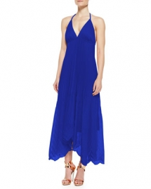 Alice + Olivia Adalyn Pleated Georgette Maxi Dress  - Knock 'em Dead Dresses