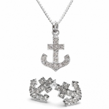 Anchor necklace & earrings - My style