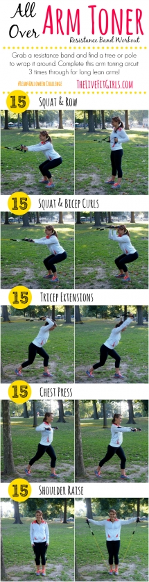 Arm Toner Resistance Band Workout - Great Ways To Get Fit...If You Are Up For It!
