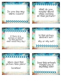Art Discussion Cards for Class Critiques or Art History Lessons - Awesome Art lessons
