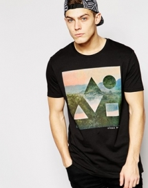 ASOS Longline T-Shirt with Clean Bandit Print and Skater Fit - T-Shirts