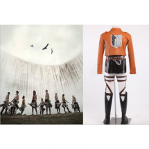 Attack on Titan the Recon Corps Uniform Outfits Cosplay Costume -  Attack On Titan costumes