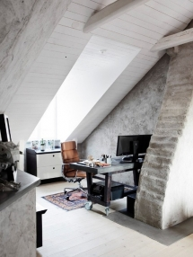 Attic office space with large skylight  - Attic Space