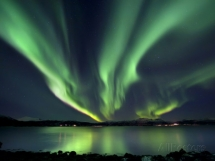Aurora Borealis over Tjeldsundet Photographic Print - Art for home and cottage