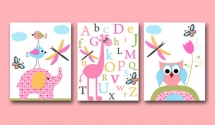 Baby Girl Nursery art print Childrens Wall Art Baby Room Decor  - Home decoration