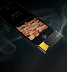 Bacon scented iPhone alarm clock - Bacon makes it better