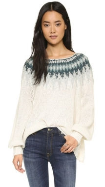 Baltic Fair Isle Sweater by Free People  - Day Wear