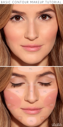 Basic contour makeup tutorial - Makeup