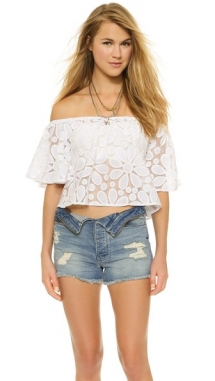 BB Dakota Dia Floral Crop Top - Day Wear
