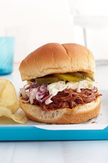 BBQ Brisket Sandwiches with Quick Slaw - Cooking