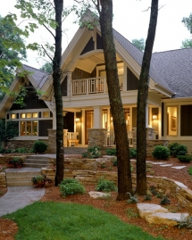 Beautifully landscaped home - Cool architecture