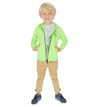 Beige with Navy and White Elasticated Waist Trousers - For the kids