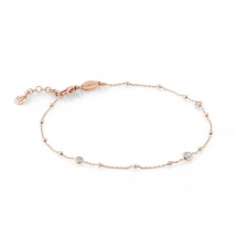 Bella 22ct Rose Gold Plated Silver & CZ Anklet by Nomination  - Jewelry