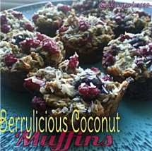 Berrylicious Coconut Muffins - Paleo and Healthy Recipes