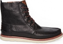 Black Leather Men's Searcher Boots from TOMS - Shoes