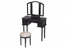 Black Makeup Vanity Table Set - Dream Home Interior Décor