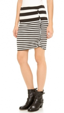 Black & White striped skirt - Summer Clothes