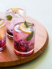 Blackberry and Meyer Lemon Gin and Tonic - Food & Drink