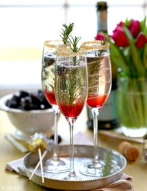 Blackberry Ombre Sparkler - Christmas Entertaining