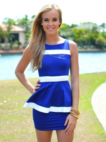 Blue and White Dress - My Style