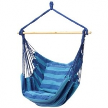 Blue Hanging Rope Chair Porch Swing Seat - Outdoor Furniture