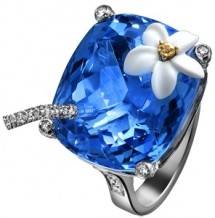 Blue Hawaiian Ring - Gifts for Mom