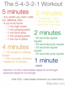 5-4-3-2-1 Workout - Great Ways To Get Fit...If You Are Up For It!