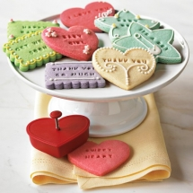 Cookie Cutters with Words - Dessert Recipes