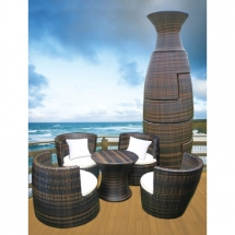 Geo-Vase All Weather Wicker Seating by Deeco - Outdoor sitting areas