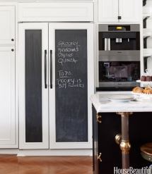 Chalkboard Refrigerator Door - Dream Kitchens