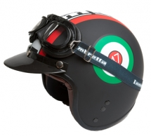 Lambretta 'Nero' by Heritage Helmets - Motorcycle accessories
