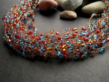 crochet wire necklace - Jewlery making ideas