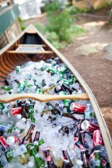 Charming Canoe Turns Cooler   Great Wedding Ideas