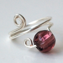 wire and gem ring - Rings