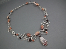 Wire and Gem necklace - Jewlery making ideas