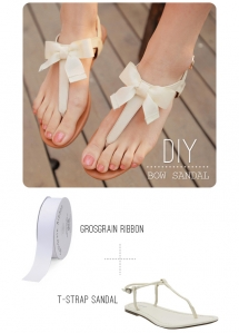DIY Bow Sandals - Fun crafts