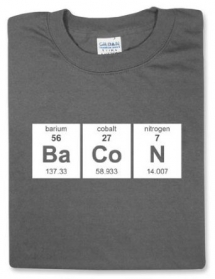 Periodic Bacon T-Shirt - Geeky Gifts