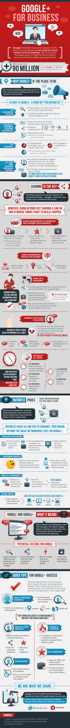 Google+ for Business. What It can do for yours. An infographic. - The Web