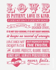 Love is patient, love is kind... - The Truth Be Told