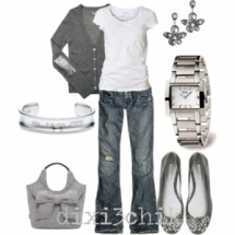 Grey, silver and white outfit - My Style